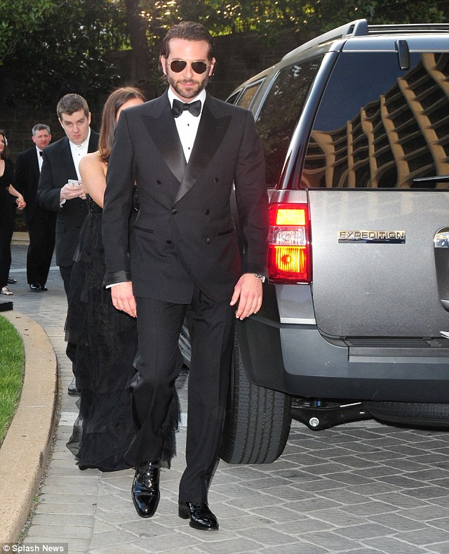 Author Ron Kessler says that the Secert Service allowed actor Bradley Cooper to be dropped off at the doors of the 2013 House Correspondents Dinner in the Ford Expedition in this photo. Every one else attending the dinner - with the exception of the president and other Secret Service protectees - had to be dropped off a block away from the dinner site for security reasons