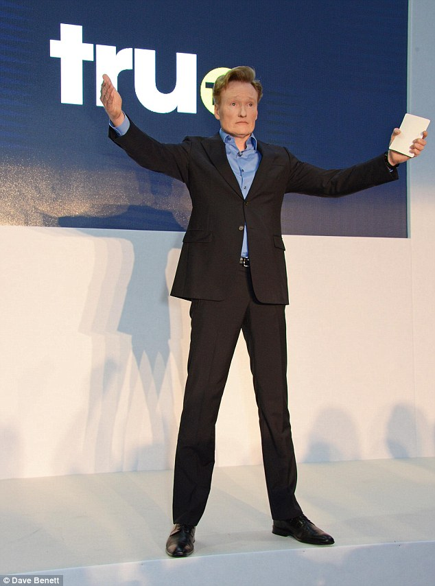 Conan O'Brien speaks at the star studded VIP launch party for truTV, a brand new larger than life TV channel launching on 4th August
