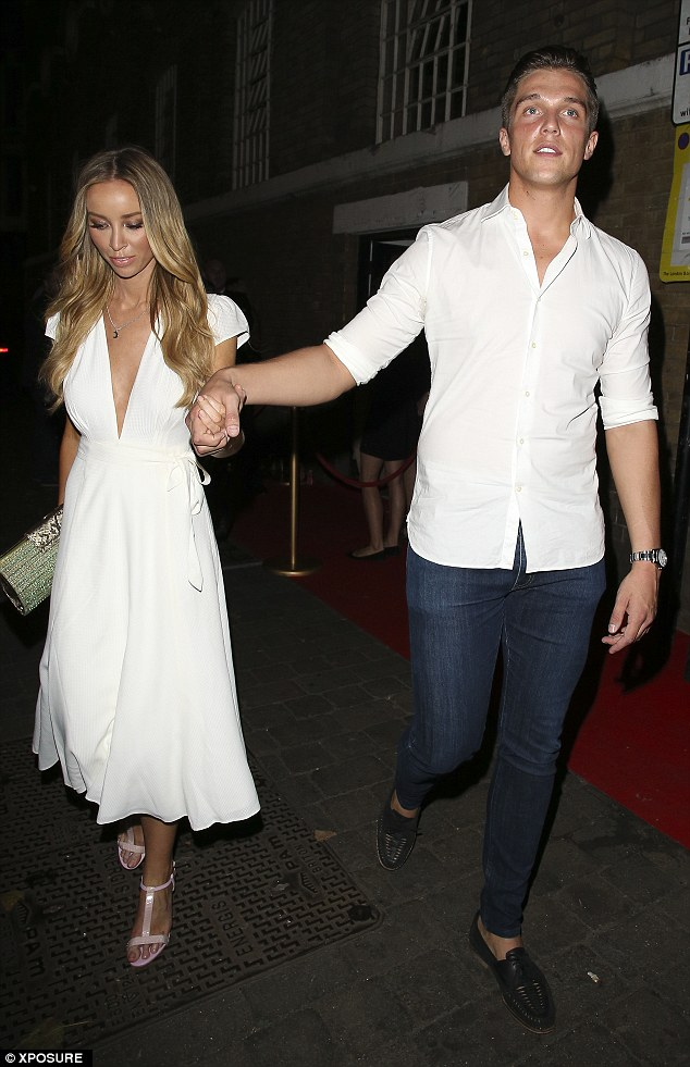 Matching: Lauren Pope and Lewis Bloor also attended the TV station launch