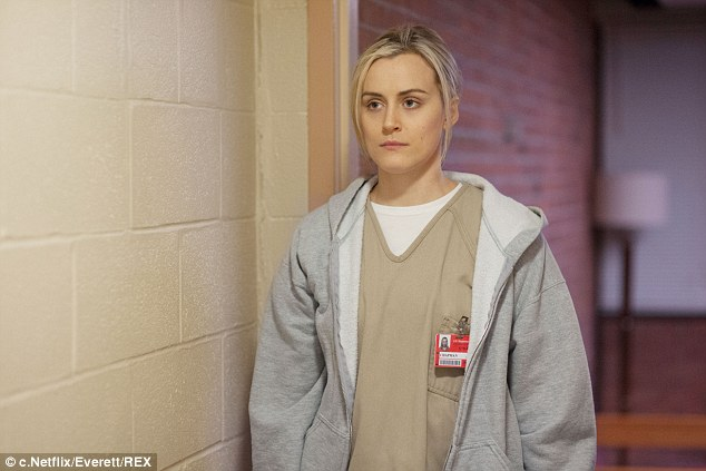 Different dress code: The actress stars as Piper Chapman, an unlikely inmate, in Orange Is The New Black