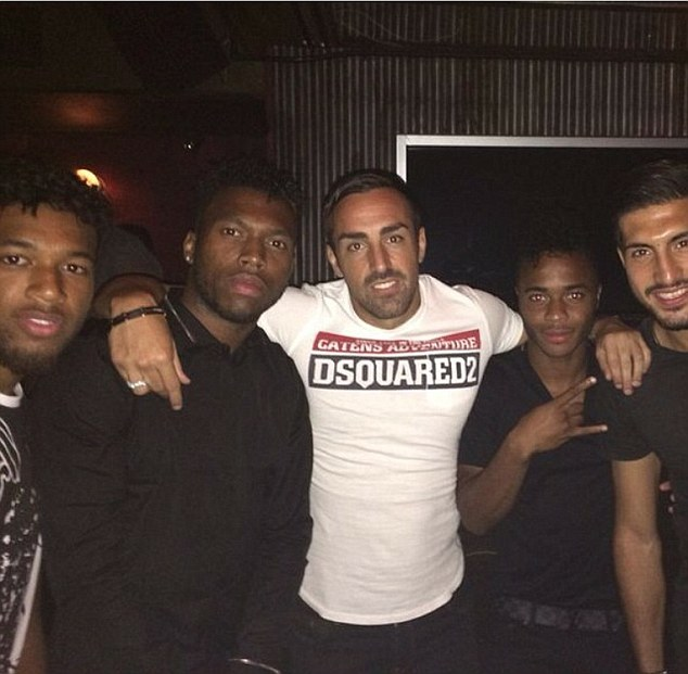 Say cheese: Coutinho was out having fun with his Liverpool team-mates in New York during their USA tour