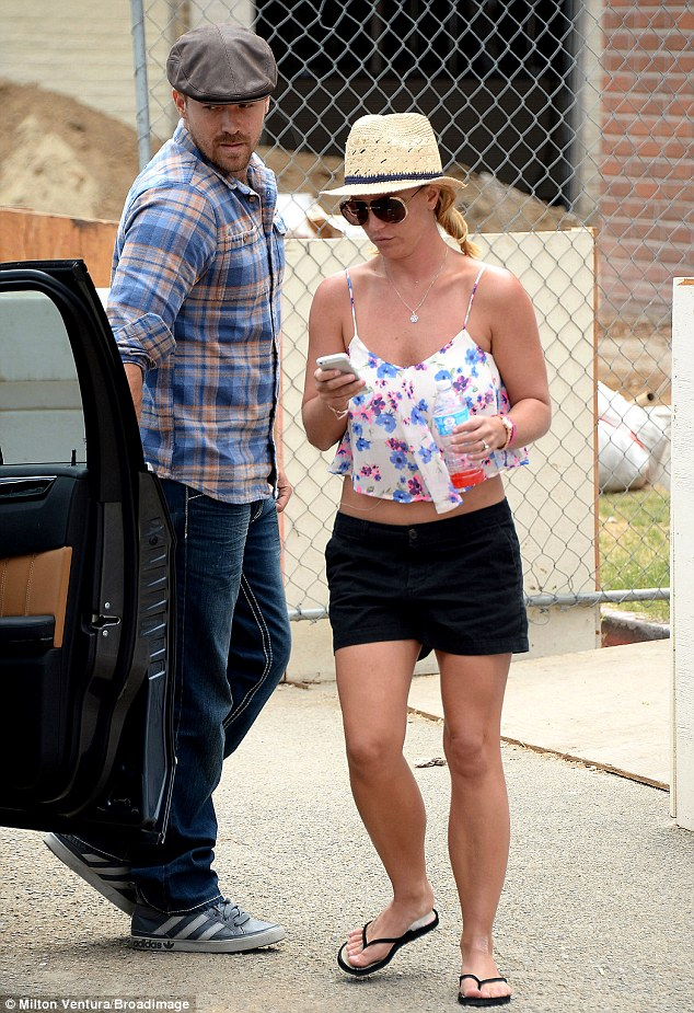 It's a date: The singer took time out for her steady boyfriend David Lucado on Sunday over lunch