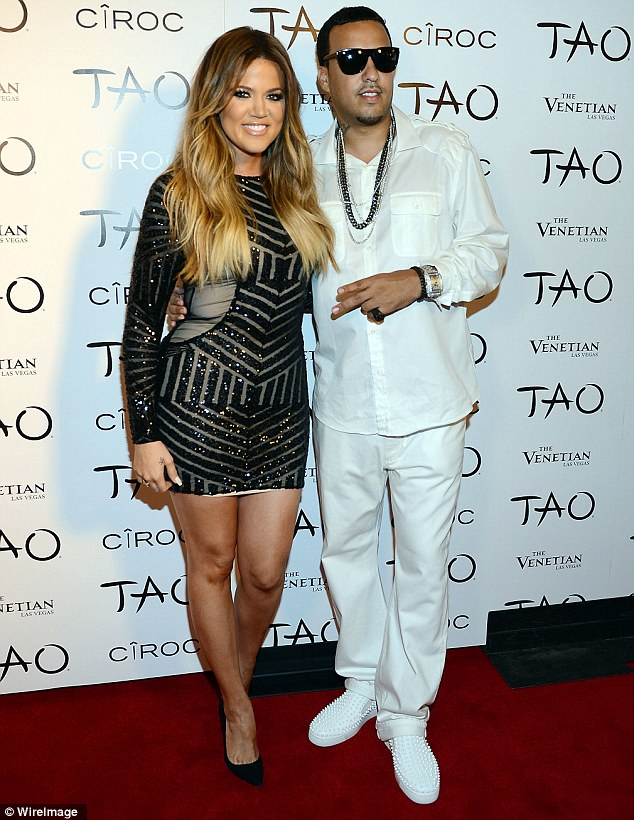 Bad influence? Khloe Kardashian and French Montana, pictured at her Vegas birthday party on July 4, have the Kardashian matriarch, Kris Jenner, worried about her daughter's relationship
