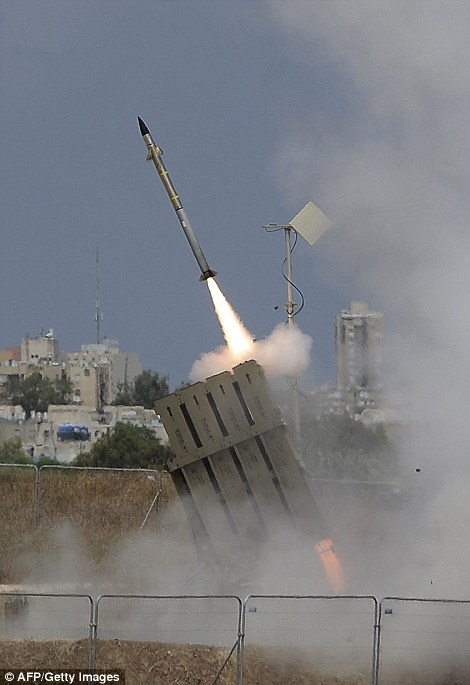 Israel combats Hamas rockets using the Iron Dome defence system