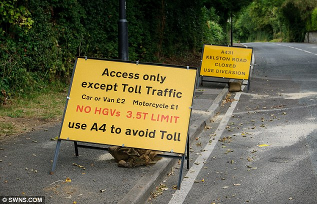 A431 closed: Drivers can use the toll road at £2 a pop or use the A4, which entails a 10-mile detour