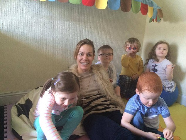 Tara playing with children from the Speur Ghlan charity which provides programmes of therapy for children with developmental disorders including autism