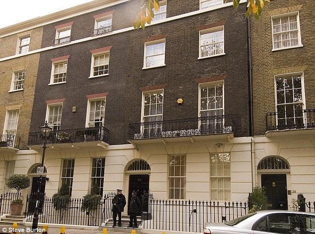 The headquarters of the Faith Foundation is just around the corner from Blair's Connaught Square home in London