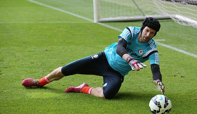 Experience: Cech will have to be wary of Courtois as he looks to extend his Chelsea career