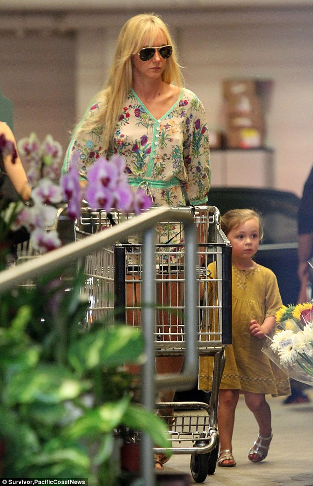 Healthy lifestyle: The former model and her strawberry blonde toddler were seen stocking up on organic groceries at Whole Foods Market on Friday