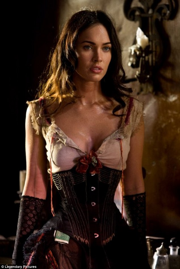 The right stuff: Megan played a gun-toting prostitute in 2010's Jonah's Hex; she said she doesn't mind 'doing that stuff' because it's part of being an actress