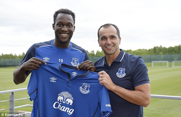 Signal of intent: Roberto Martinez's Everton signed Romelu Lukaku for £28m from Chelsea