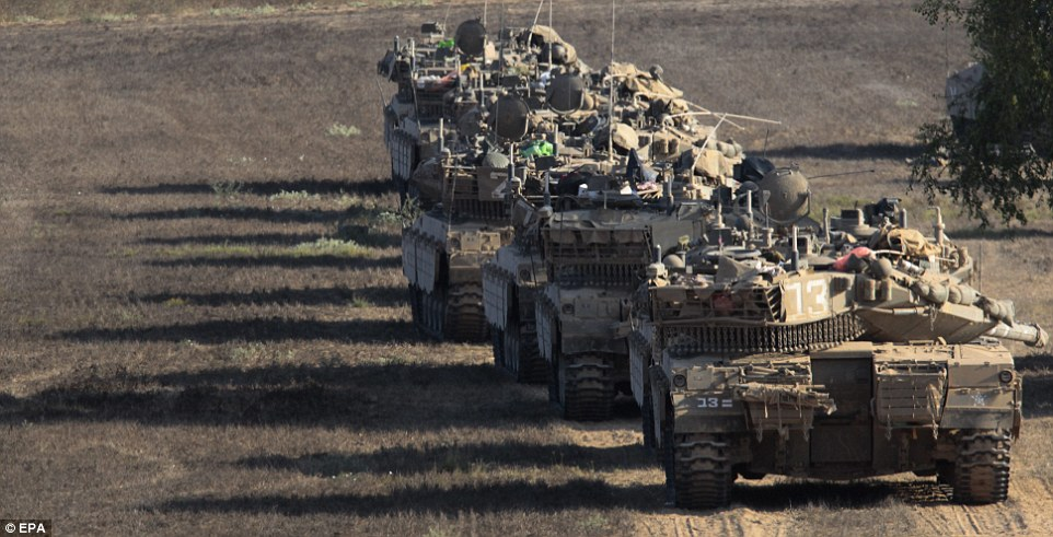Convoy: Israel's tanks began withdrawing from the Gaza Strip after military tunnels were destroyed, but there was no clear end in sight to the bloodshed in the region