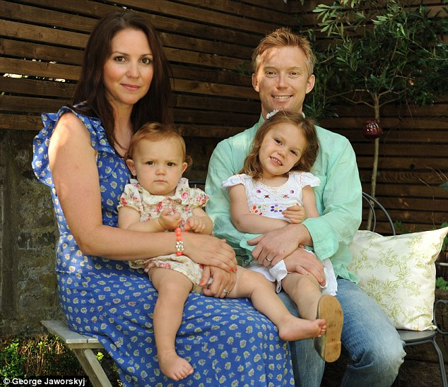 Growth strategy: James Anderson with his wife Hannah and Lily, left, and Poppy
