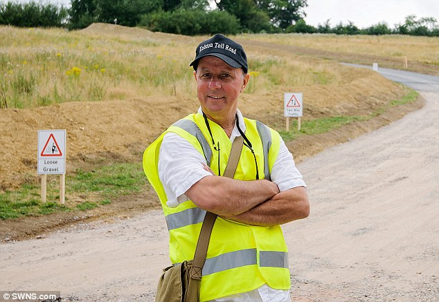 Businessman Mike Watts decided to open the thoroughfare - made of a mix of asphalt and chippings