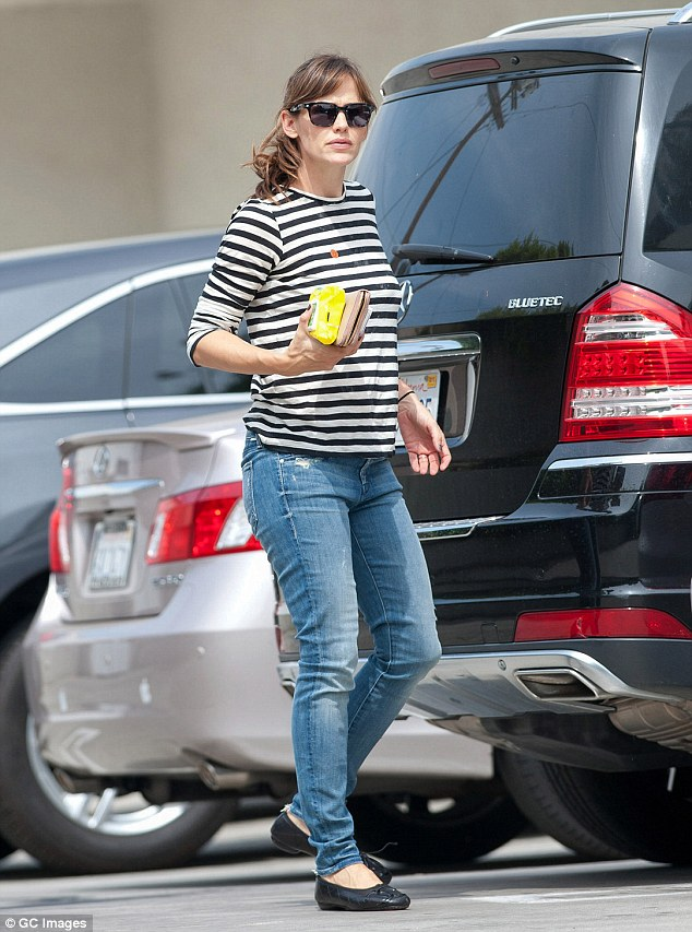 Out and about: Jennifer Garner is seen running errands in Los Angeles on Saturday