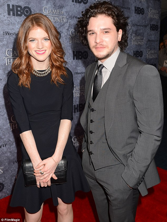 'Back on': According to a source for Us Weekly, Game Of Thrones stars Kit Harington and Rose Leslie, both aged 27, are dating again despite splitting last year