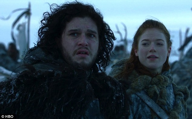 Life imitating art: The two played lovers Jon Snow and Ygritte together on the popular HBO series