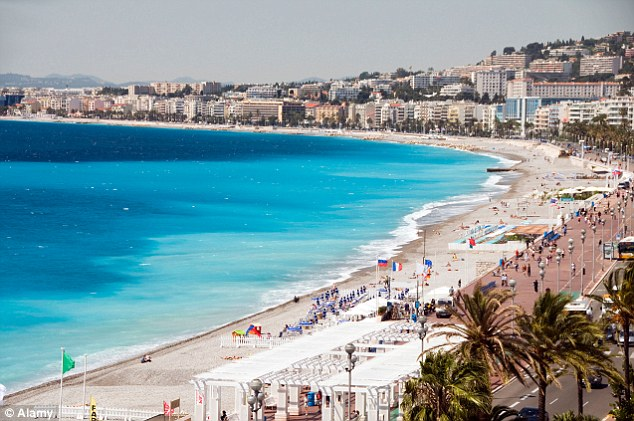 Mediterranean hotspot: Nice forms part of the French Riviera and is a favourite summer hotspot