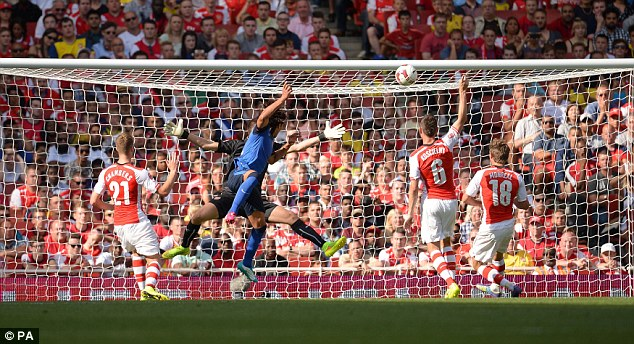 Defeat: Arsenal lost 1-0 to Monaco on Sunday in the Emirates Cup with Radamel Falcao scoring the only goal
