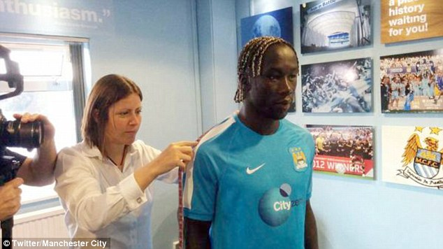 Gunner: Manchester City signed France international Bacary Sagna on a free transfer after he left Arsenal