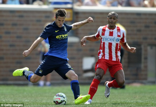 Good impression: Bruno Zuculini has looked good on Manchester City's pre-season tour of America