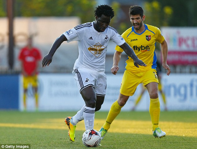 Demands: Wolfsburg have shown an interest in Wilfried Bony, but his wages could be a stumbling block
