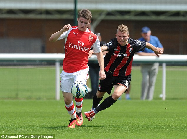 Signed, sealed, delivered: Crowley has signed professional terms with Arsenal after joining from Villa last year