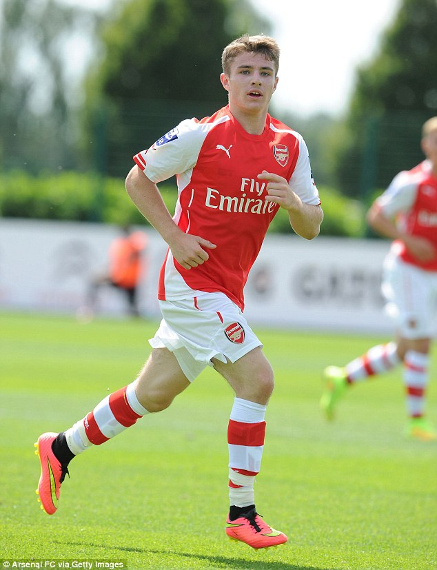 Young star: The 17-year-old has impressed the coaching staff at Arsenal in his 12 months with the club