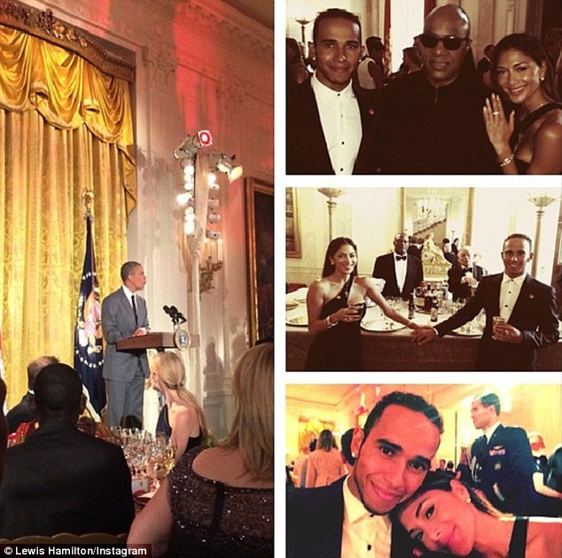 Presidential: On Thursday, Lewis joined Nicole at The White House for a gala hosted by President Barack Obama and the First Lady Michelle