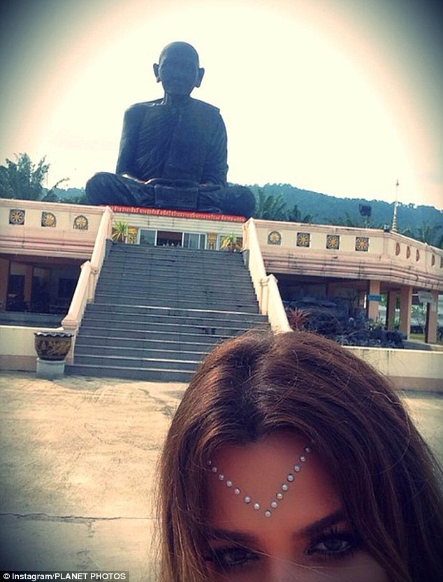 Another cryptic note: On Sunday Khloe Kardashian posted this photo from her trip to Thailand with the message, 'Depend on no one'