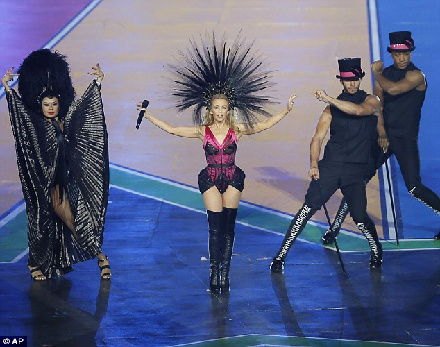 Bringing the drama: With big costumes, bid dance moves and big musical numbers, it was go bold or go home for the star