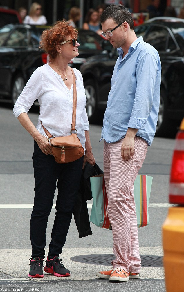 She loves the big city: The Thelma & Louise star, who is pictured with boyfriend Jonathan Bricklin, was born and raised in NYC