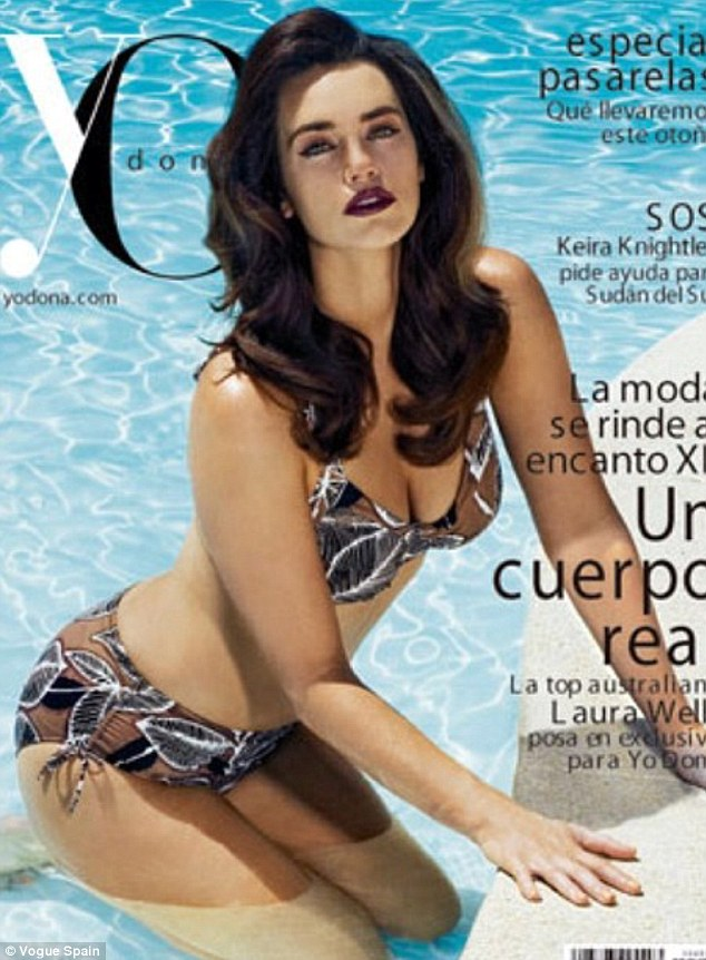 Professional poser: Laura is stunning on the cover of Yo Dona magazine in Spain this month showing off her perfect size 14 physique