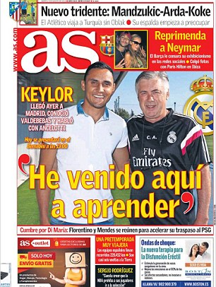 Safe hands: The Spanish press report on the goalkeeping situation at Real Madrid