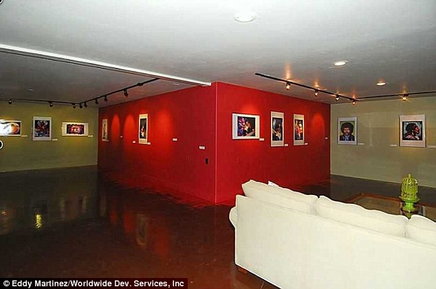 Something for everyone: The house also features an underground art gallery