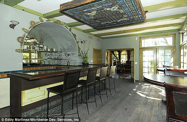 Social: A spacious bar area is an ideal spot for entertaining guests