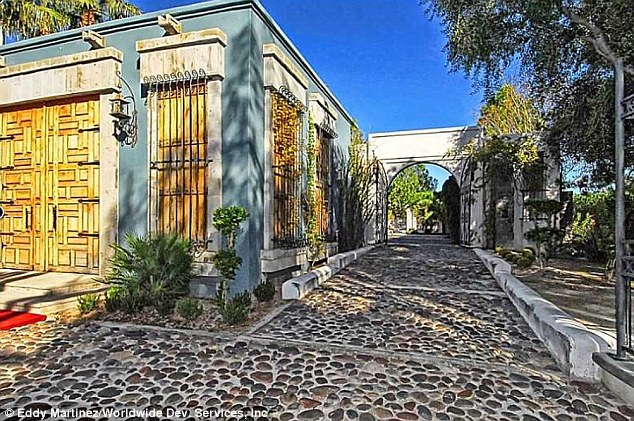 Picturesque: A cobbled driveway leads you to the main house