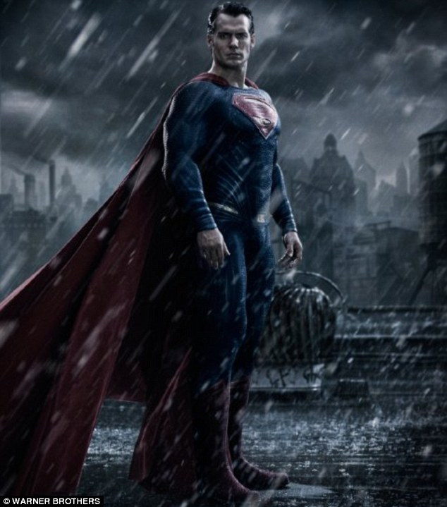 Second billing: It may be a Man Of Steel sequel but Henry Cavill's Superman has been demoted behind the Dark Knight in the title
