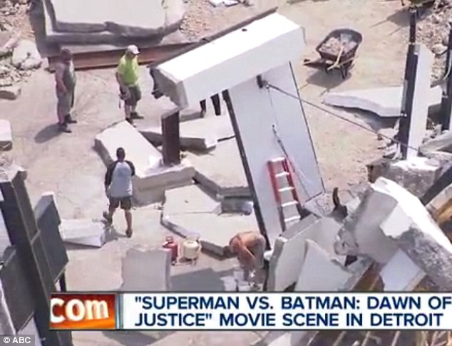 Man of twisted steel: It appears Superman is slow off the blocks yet again in the forthcoming film