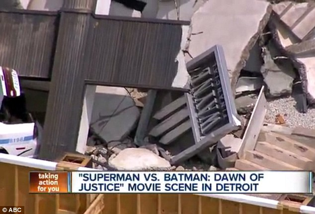 Grabbing Bruce's attention: Wayne will be fuming one of his businesses in Metropolis has been damaged
