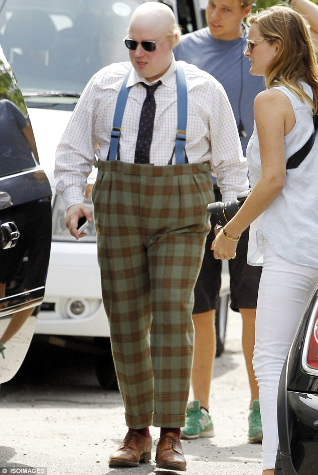 Check mate! Matt Lucas sported an unusual get-up on Monday as he filmed new BBC silent comedy, Pompidou