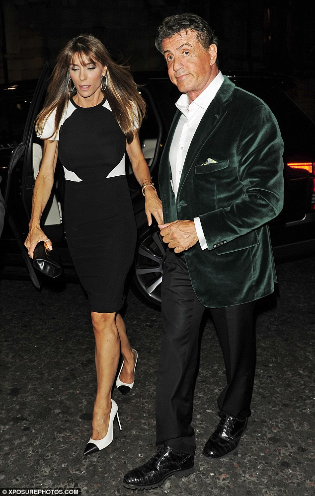 Following the London premiere of his latest movie The Expendables 3, Sylvester Stallone and wife Jennifer Flavin head to DSTRKT for the official after-party on Monday night