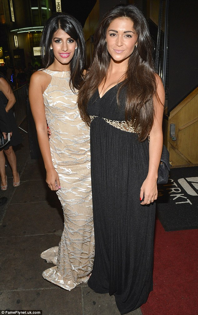 Stars in their eyes: Jasmine Walia (left) and Casey Batchelor (right) step out to mingle with Hollywood celebrities
