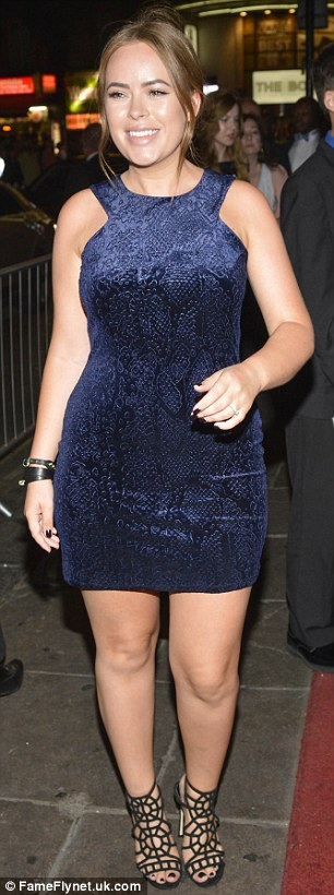 Emma Miller (left) and Tanya Burr (right) make a glamorous arrival at the star-studded bash