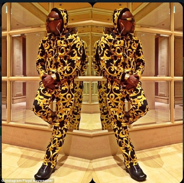 Extravagant: The 37-year-old enjoys showcasing his wealth on social media