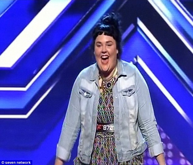 Success is the greatest revenge: The powerful singer made it through to bootcamp after wowing the judges with her great voice and revealing she was bullied at school for being overweight