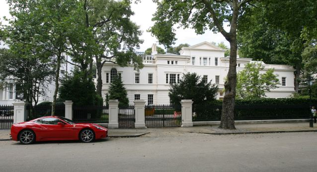 The former Philippines embassy building in Kensington Palace Gardens, London, was bought by Lakshmi Mittal for his daughter Vanisha
