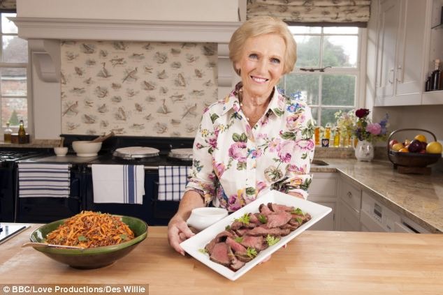 Recipe for success: Great British Bake Off star Mary Berry has whipped up an impressive business empire thought to be worth as much as £5million