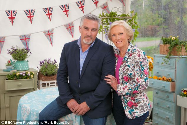 Cooking up a storm: Mary Berry with her fellow Bake Off judge Paul Hollywood