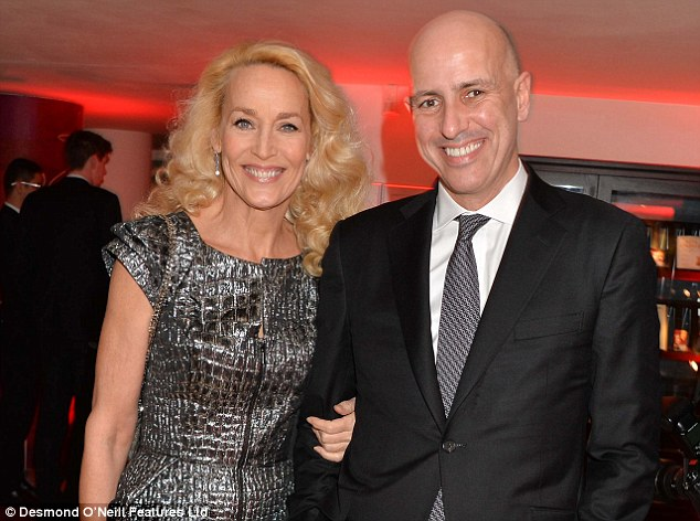 Jerry began dating Professor Armand Leroi (pictured together above) at the beginning of this year having split fromAustralian multi-millionaire property magnate Warwick Hemsley in 2012
